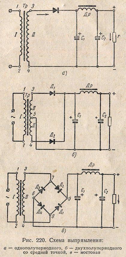 Схема двухполупериодного